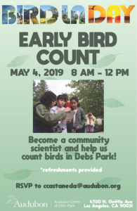 Early Bird Count at the Audubon Center at Debs Park @ Audubon Center at Debs Park